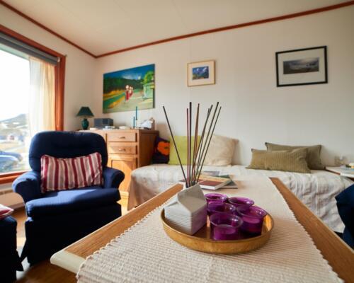 Living room Kongsfjord Holiday Home